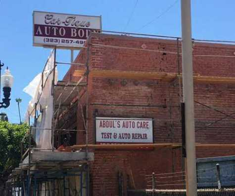 The former Abdul's Auto Care under renovation.
