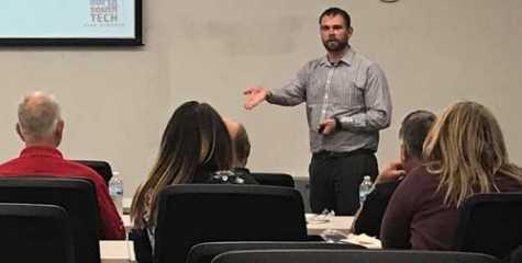 Guest speaker Kevin Andert, manager of College and Career Readiness for North and South Technical Colleges, taught WAC members about Generation Z.