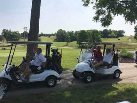 Attendees enjoyed a beautiful day of golfing.
