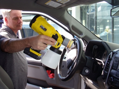 Shortly after the pandemic hit, Killer Tools unveiled a cordless sanitizing tool, Mr. Fogger, so that technicians or car detailers can sanitize touchpoints and vehicle interiors more quickly and efficiently.