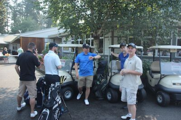 Golfers enjoyed networking on August 9th at Eagles Pride Golf Course.