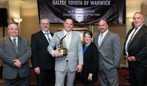 Balise Collision Center, Winner of 2018 Toyota Collision Center of the Year award