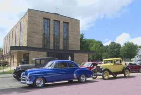 Classic Car Procession Celebrates Lifelong Enthusiast
