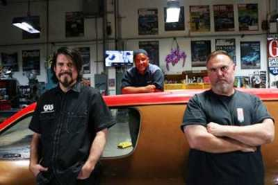 "Beau Boeckmann, ""Mad Mike"" Martin and Dave Shuten Photo Credit: Discovery Channel"