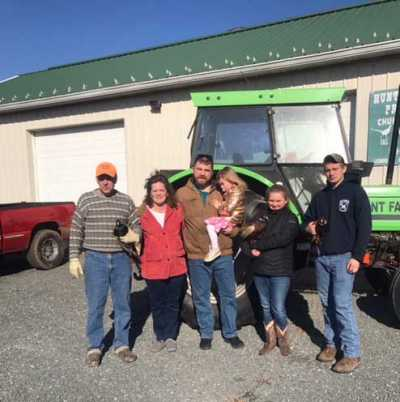 From left: Paul Hunt, Tammy Hunt, Ken Buck, Ella Buck, Cassidy Hunt and JP Hunt operate the Hunt Family Preserve in New Jersey when Paul and Tammy aren't working in the wholesale parts department for Flemington Car and Truck Country/NJ Parts.