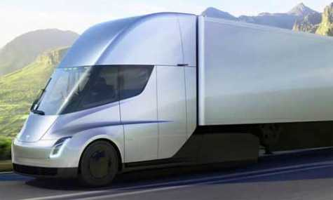 Tesla Semi electric truck.