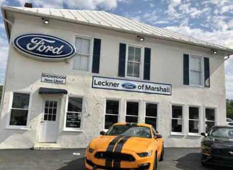 Leckner Ford in Marshall, VA, is located in an historic building on the corner of Main Street and Winchester Street.