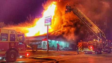 Fire Destroys Collision Center in Chardon, OH