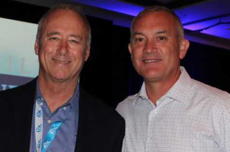 L to R: Erick Bickett, co-founder of Fix Auto USA, and co-owner of eight Fix Auto USA locations, and Paul Gange, president and CEO of Fix Auto USA.