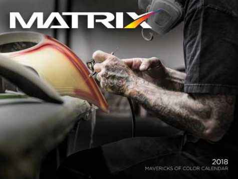 Matrix Automotive Finishes  2018 Mavericks of Color Calendar.