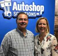 IGONC Executive Director Bob Pulverenti poses with Margaret Edmunds Palango, chief business development officer at Autoshop Solutions.