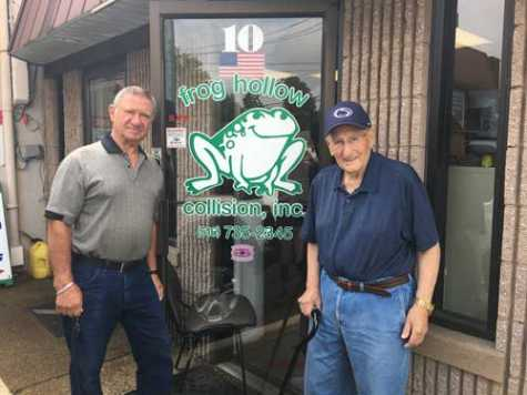 The original owners at Frog Hollow are Mike Ciampoli (left) and Lou Miccio. They taught Anthony DeMieri, Sr. the business before selling him the business 18 years ago.