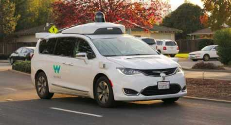Waymo Chrysler Pacifica Hybrid undergoing testing in the San Francisco Bay Area.