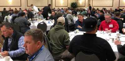 Attendees enjoyed networking with industry peers during meals and breaks.