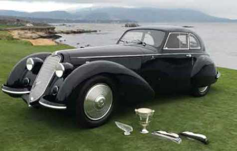 1937 Alfa Romeo, Best in Show winner at Pebble Beach 2018, by RX Autoworks, finished in BASF's R-M Onyx HD.