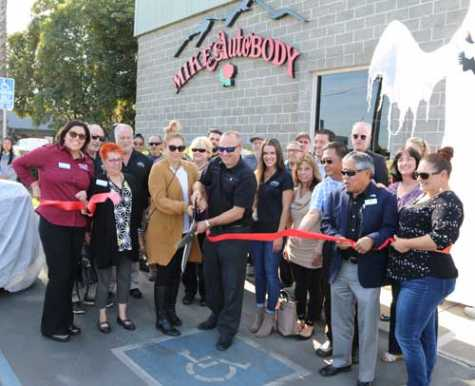 Mike's Auto Body was welcomed by the City of Vallejo with a ribbon-cutting ceremony.