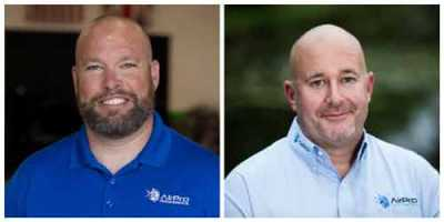 Eric Newell, left, is vice president of field operations and business development for AirPro Diagnostics. Josh McFarlin, right, is vice president of strategic business operations for AirPro Diagnostics.