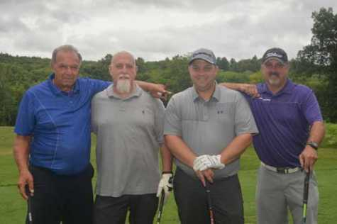 The first-place team at AASP/MA's 2018 Golf Outing (pictured left to right: Don Salvatore, John Sforza, Peter Kilkenny and Rich Cote).