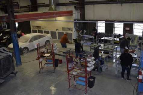 One of the classes that TSTC Waco auto collision and management technology majors take is Basic Paint Techniques, Equipment and Environmental Practices.