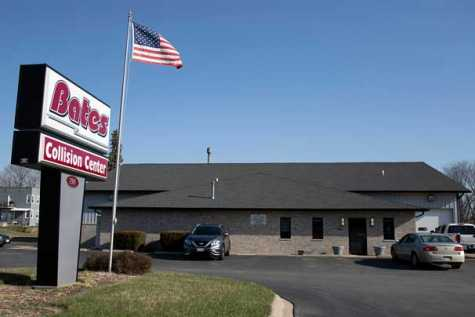 Bates Collision Center is located at 799 E. Main St. in Galesburg, IL.