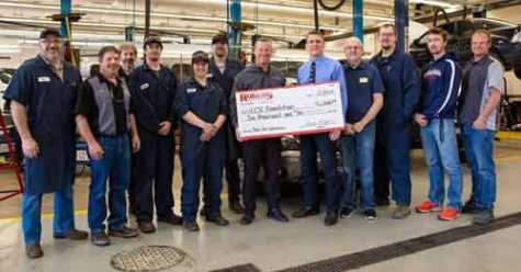 Rogers Toyota Donates $6,000 to LCSC Auto Mechanics Technology and Collision Repair Programs
