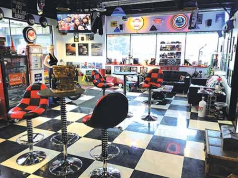 "CARSTAR Ellis Brothers Collision in Milford, MI, boasts ""one of the coolest waiting rooms in the business,"" according to owner David Ellis."