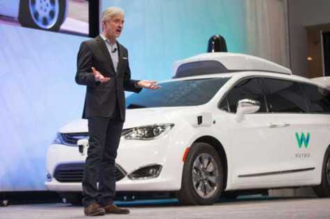 John Krafcik, CEO of Waymo, speaks at a press conference at the North American International Auto Show in Detroit, MI, Jan. 8, 2017.