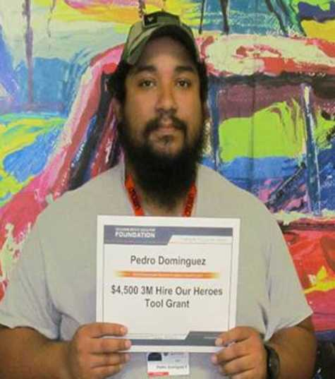 Pedro Dominguez received a $4500 tool grant from 3M.