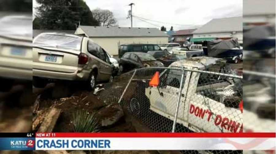 Driver Crashes Into Collision Repair Business Displaying