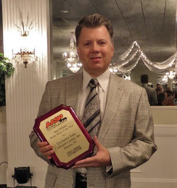 Tony Lake was awarded the Stan Wilson/New Jersey Automotive Body Shop of the Year Award in 2015 by the Alliance of Automotive Service Providers of New Jersey (AASP/NJ)