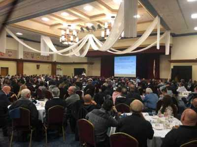 The Feb. 6 CAA meeting had 210 attendees, the highest number in the chapter's history.