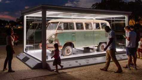 The Jenkins family Volkswagen van was on display on the National Mall this year during the 'Cars at the Capitol' event.
