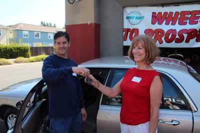In 2012, Kathleen St. John received a completely refurbished 2003 Buick LeSabre as part of the Wheels to Prosper program. The program was established in 2011 by Dino Di Giulio, owner of Body Best Collision Center in Sonoma, CA.
