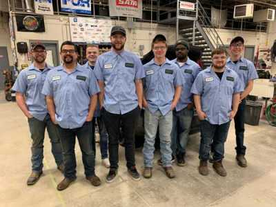 CREF encourages body shops to sponsor work uniforms for students. CARSTAR Omaha/Lincoln donated new Cintas tech shirts to automotive collision students at Metropolitan Community College in Omaha, NE.
