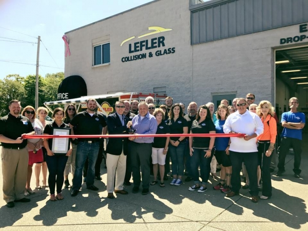A ribbon-cutting ceremony on August 18 celebrated the 65th anniversary of Lefler Collision and Glass Repair.