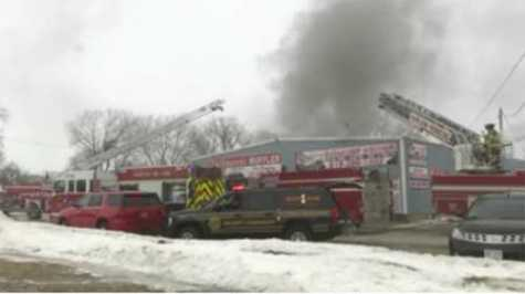 South Beloit, IL, Firefighters Respond to Auto Body Shop Fire