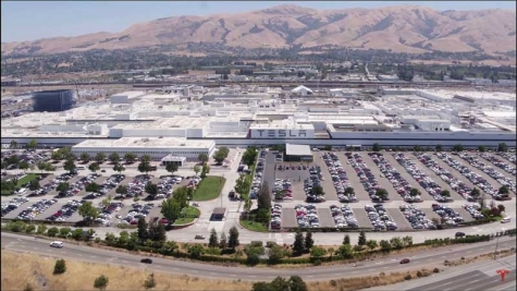 The Fremont, CA, Tesla factory.