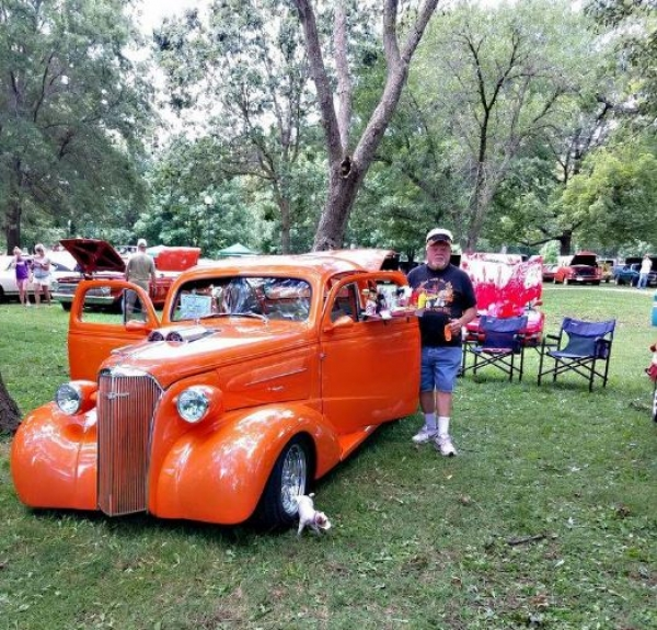 Bill McGaughey with his 1937 Chevrolet Coupe. McGaughey said at 2015's Ol' Marais River Run show, the Coupe was named in the Top 10 out of more than 2,000 cars.