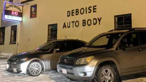 The former DeBois Auto Body shop could become the city's newest pot retailer.
