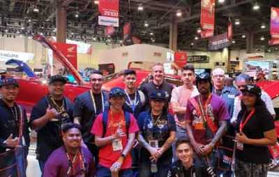 Instructor Marlene Spence traveled with her students to the SEMA Show in Las Vegas this past November.