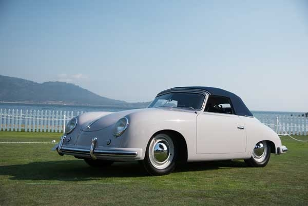 The 1952 Porsche 356 Reutter Cabriolet won Best in Class (Post War Open) at the 2017 Pebble Beach Concours d'Elegance, painted with Glasurit 55 Line in Fashion Grey.