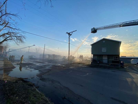 Early Morning Fire Destroys Auto Body Shop in Sedalia, MO