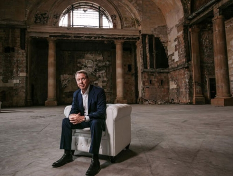 Ford Motor Co. Executive Chairman Bill Ford poses for a photo in Michigan Central Station in Detroit.