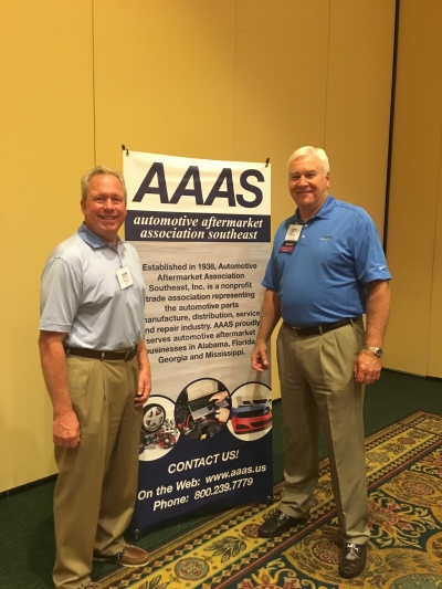 L-R  Auto Care Association Chairman Michael Klein with AAAS President Randal Ward
