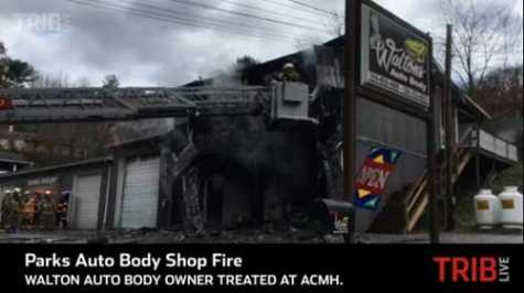 Man Burned, Woman Rescued From Parks Township, PA, Auto Body Shop Fire