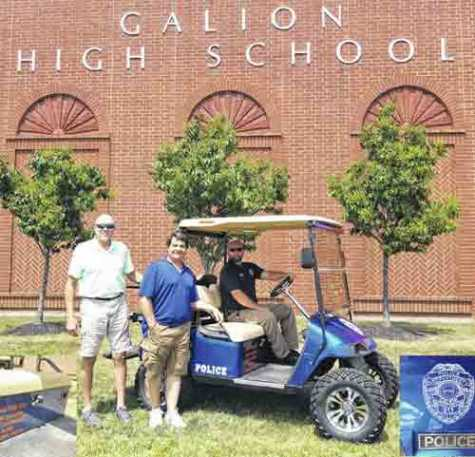 Collision Center in Ohio Painted a Donated Golf Cart for School Officer