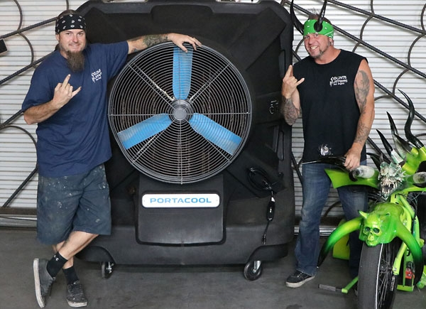 Horny Mike & Ryan Evans from Counting Cars, appearing at Portacool's booth from 10 a.m. to noon on Oct. 31 and Nov. 1.