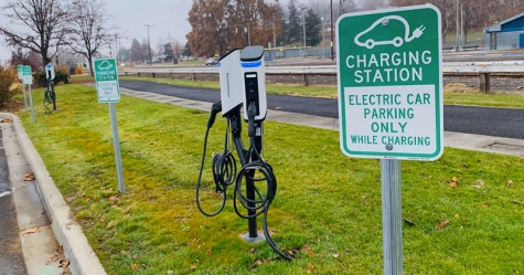 EV drivers can charge for $1.25 per hour at the four new SemaConnect charging stations located near the main entrance of Central Park.