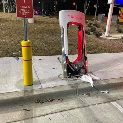 Culprit Behind Destroyed Tesla Supercharger Leaves Apparent Evidence Behind
