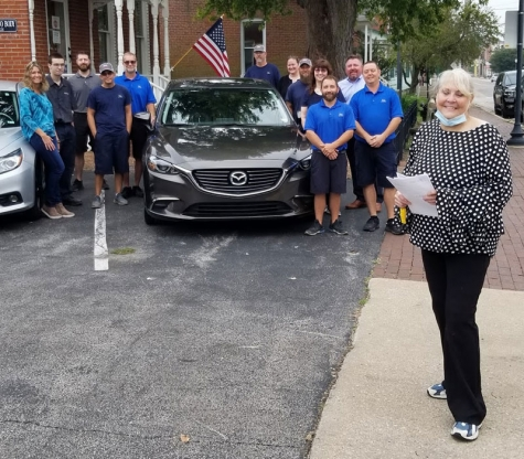 Don's Auto Body, State Farm® Present Refurbished Vehicle to Gold Star Family